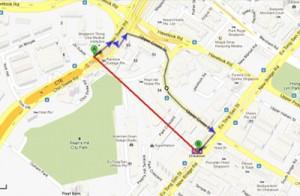 map walking