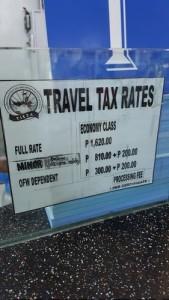 Philippine Travel Tax Rates