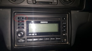 Mitsubishi Adventure Stereo Power Button