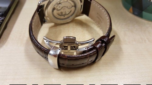 Bulova leather strap with Deployment Buckle